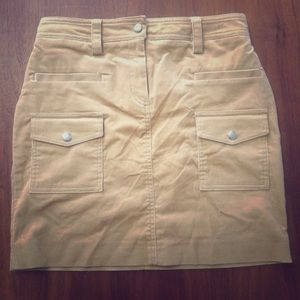 J Crew Corduroy Safari Skirt